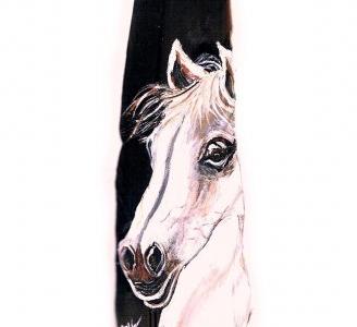Weisses-Pferd