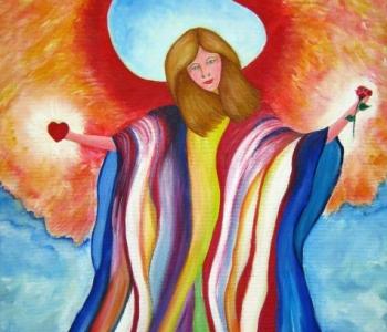 Engel des ganzen Farbspektrum