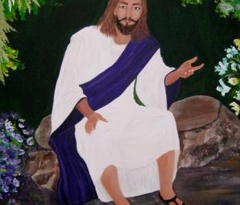 Jesus beim unterrichten