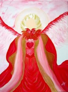 Erzengel Chamuel gemalt von Jadranka Keilwerth