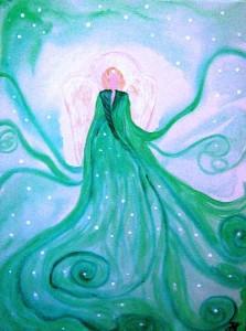 Erzengel Haniel gemalt von Jadranka Keilwerth