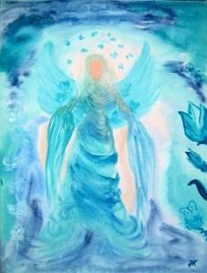 Erzengel Jophiel gemalt von Jadranka Keilwerth