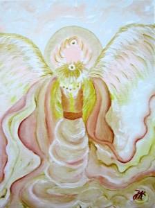 Erzengel-Metatron gemalt von Jadranka Keilwerth