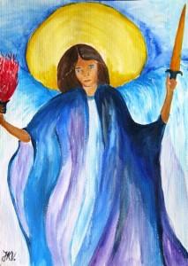 Erzengel Michael gemalt von Jadranka Keilwerth