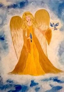 Engel gemalt von Jadranka Keilwerth