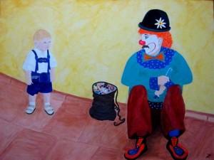 Der Junge und der Clown