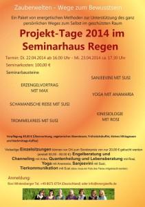 Projekt-Tage Seminarhaus Regen